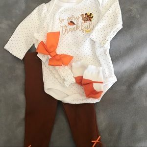 Starting Out Baby Girl Thanksgiving Outfit Size 6M